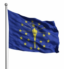 Indiana United States of America Flag Site