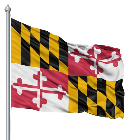 Beautiful Maryland State Flags for sale at AmericaTheBeautiful.com