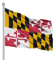 Maryland United States of America Flag Site