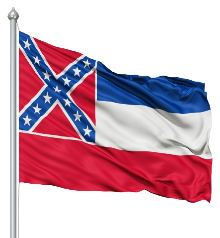 Beautiful Mississippi State Flags for sale at AmericaTheBeautiful.com