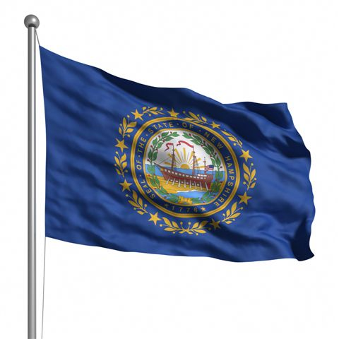 Beautiful New Hampshire State Flags for sale at AmericaTheBeautiful.com