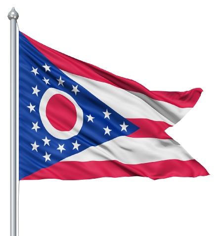 Beautiful Ohio State Flags for sale at AmericaTheBeautiful.com
