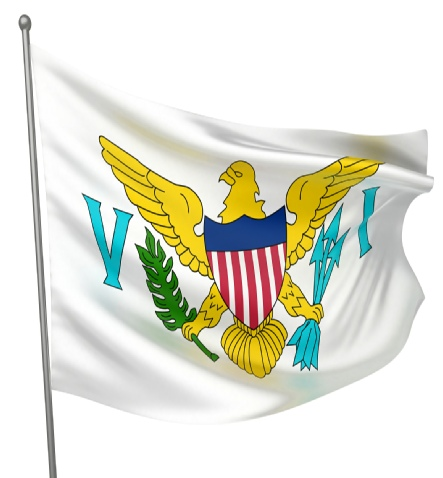 Beautiful US Virgin Islands and State Flags for sale at AmericaTheBeautiful.com